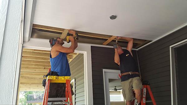 Installing final under deck panels