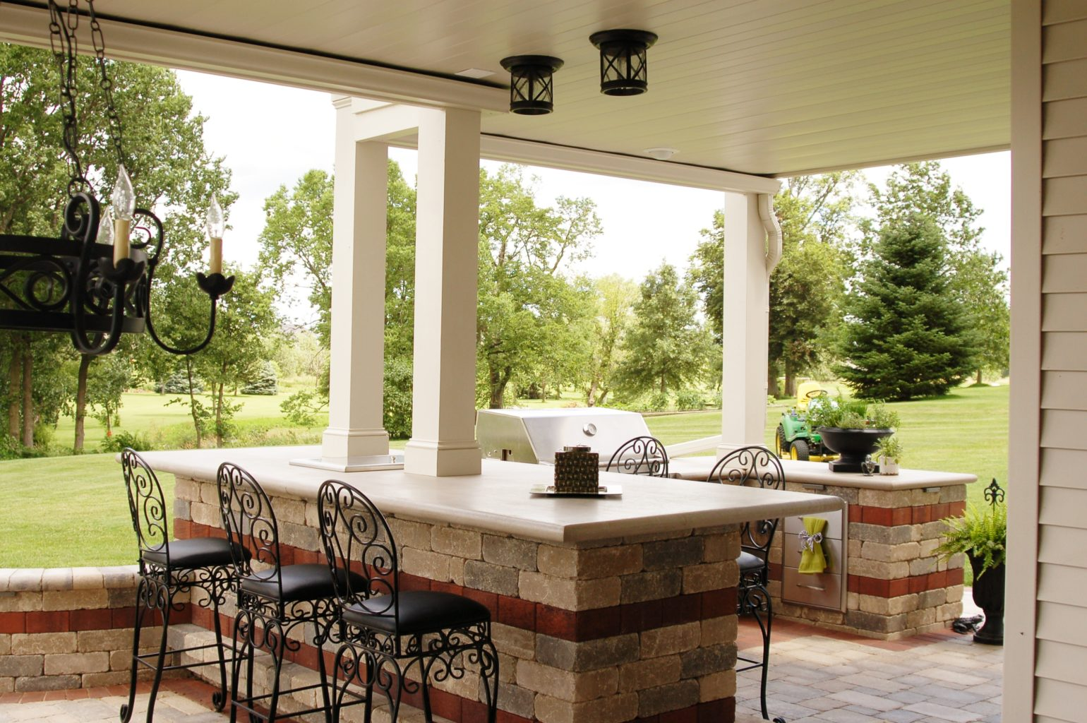 Underdeck grill area