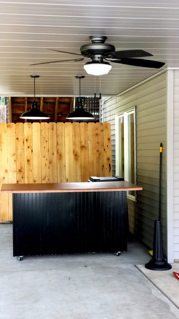 Outdoor Bar with Comfort Zone ceiling