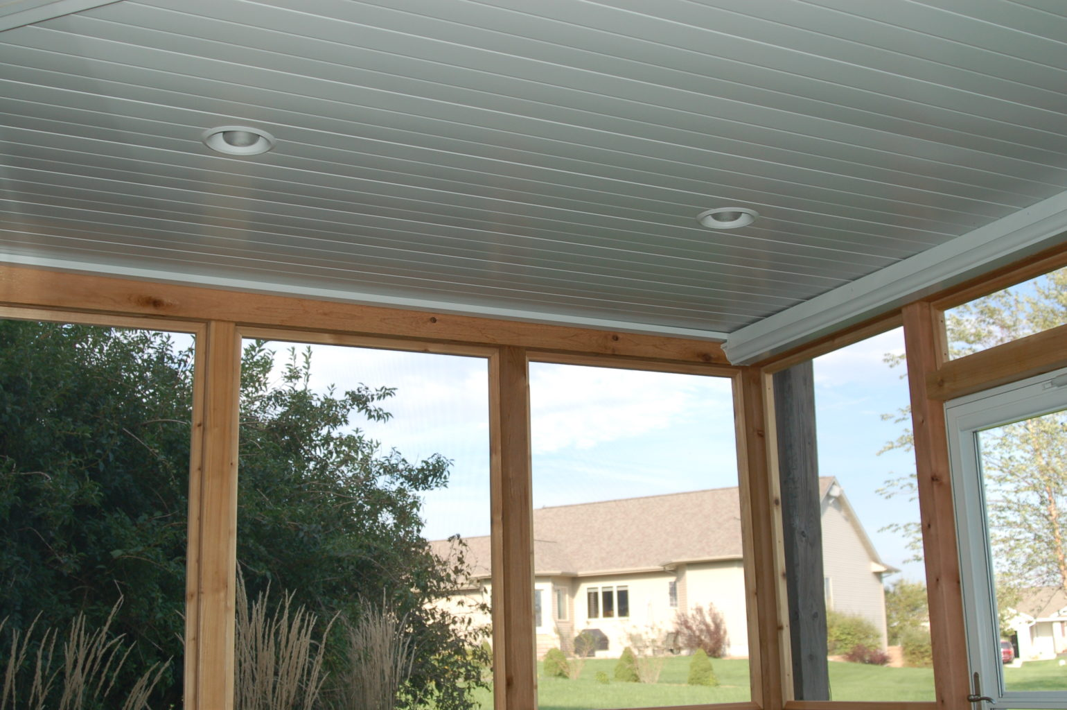 Screened Porch can lights